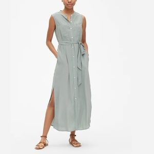 Gap Perfect Sleeveless Maxi Shirtdress